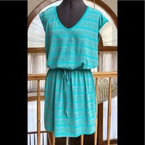 Aqua & Gray Sporty Dress